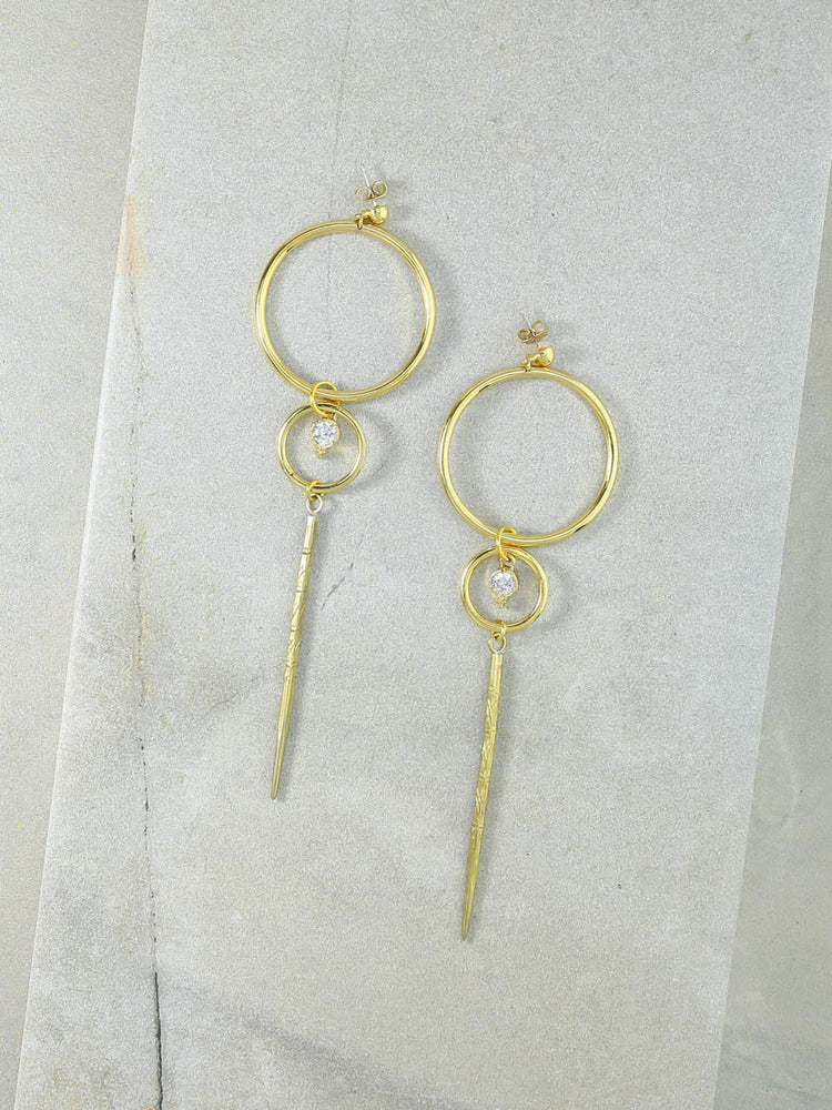 The Lucky Strike Gold Earrings