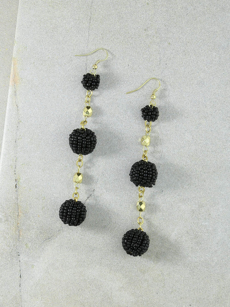 The Kennedy Black Earrings