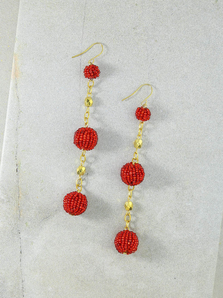 The Kennedy Red Earrings