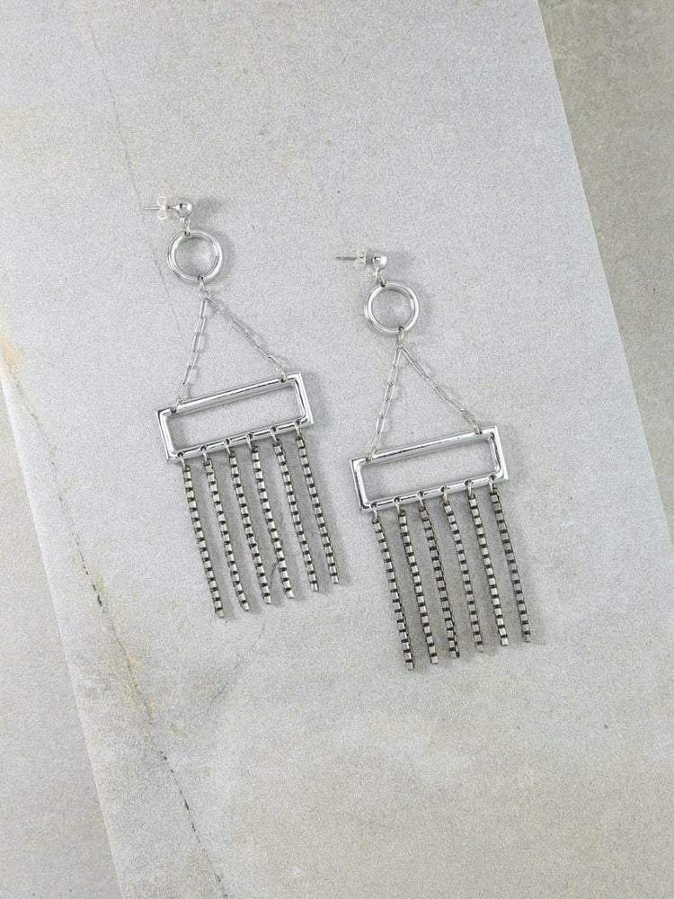 The Strength In Numbers Silver Earrings