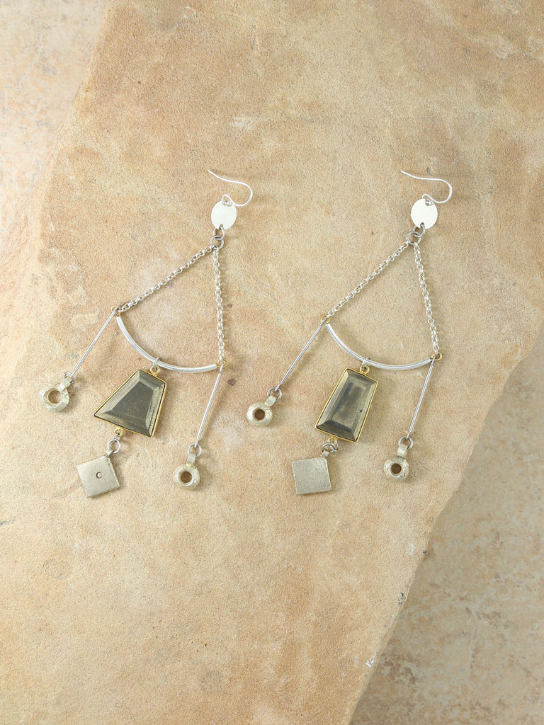 The Athena Silver Earrings