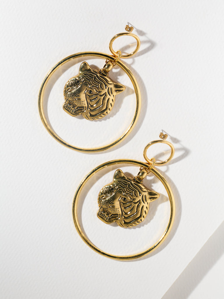 The Latifah Tiger Gold Earrings