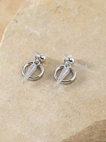 Spike & Hoop Silver Earrings