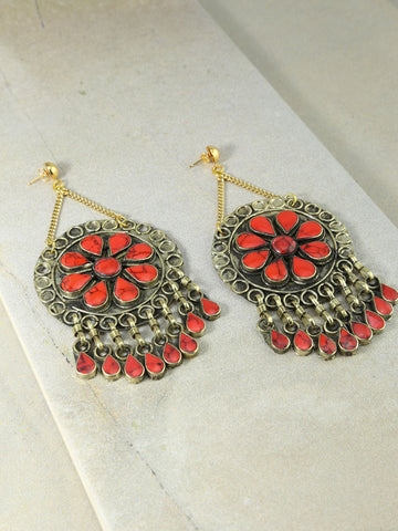 The Marisol Earrings Coral