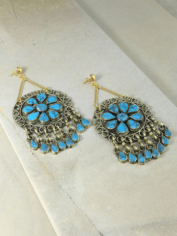 The Marisol Earrings Turquoise