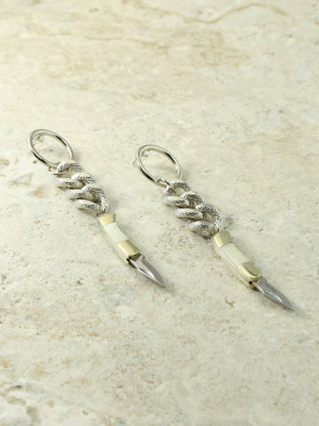 Earrings The Devotion Knife & Chain Earrings Vanessa Mooney