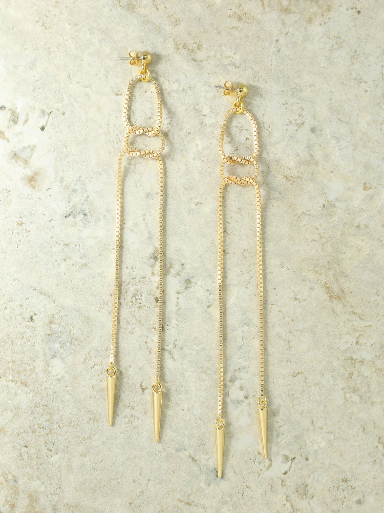 The Maria Chain Drop Earrings