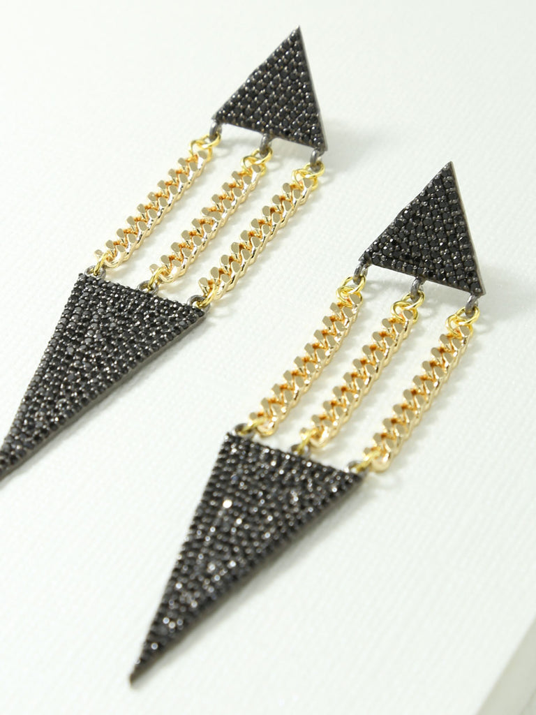 The Lucca Earrings Black