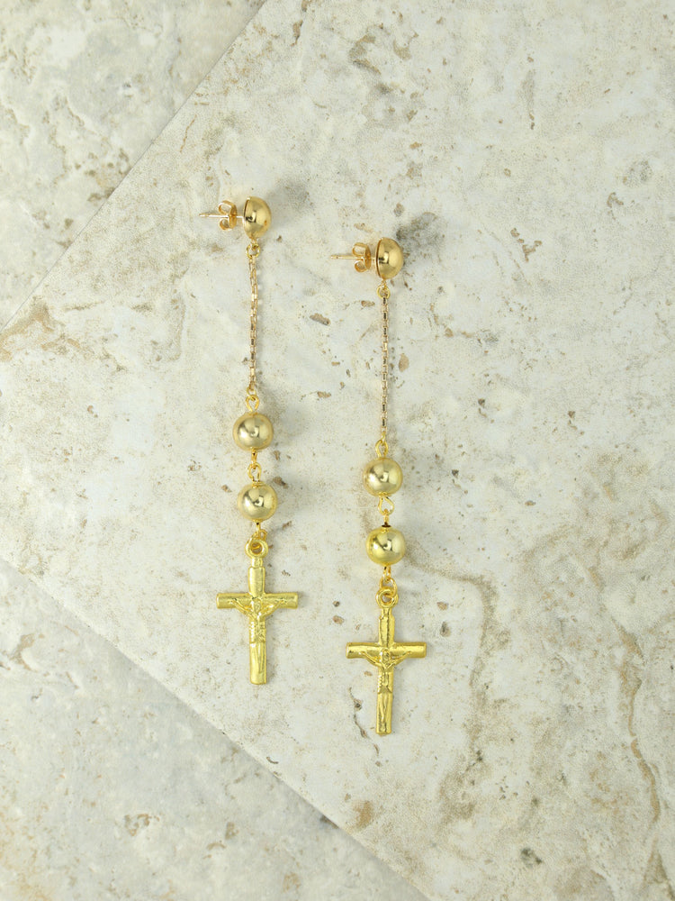 Earrings The Faith Cross Earrings Vanessa Mooney