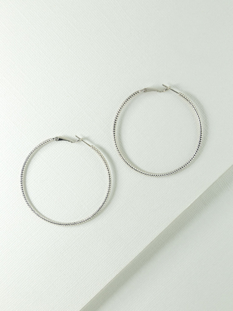Earrings The Elayah Silver Hoops Vanessa Mooney