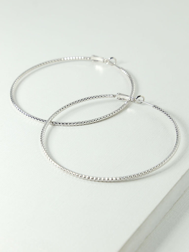 The Elayah Silver Hoops