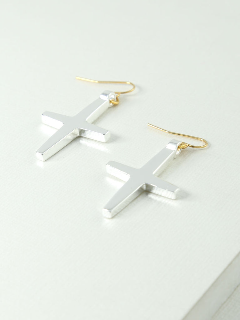 Earrings The Shaleigh Cross Earrings Vanessa Mooney