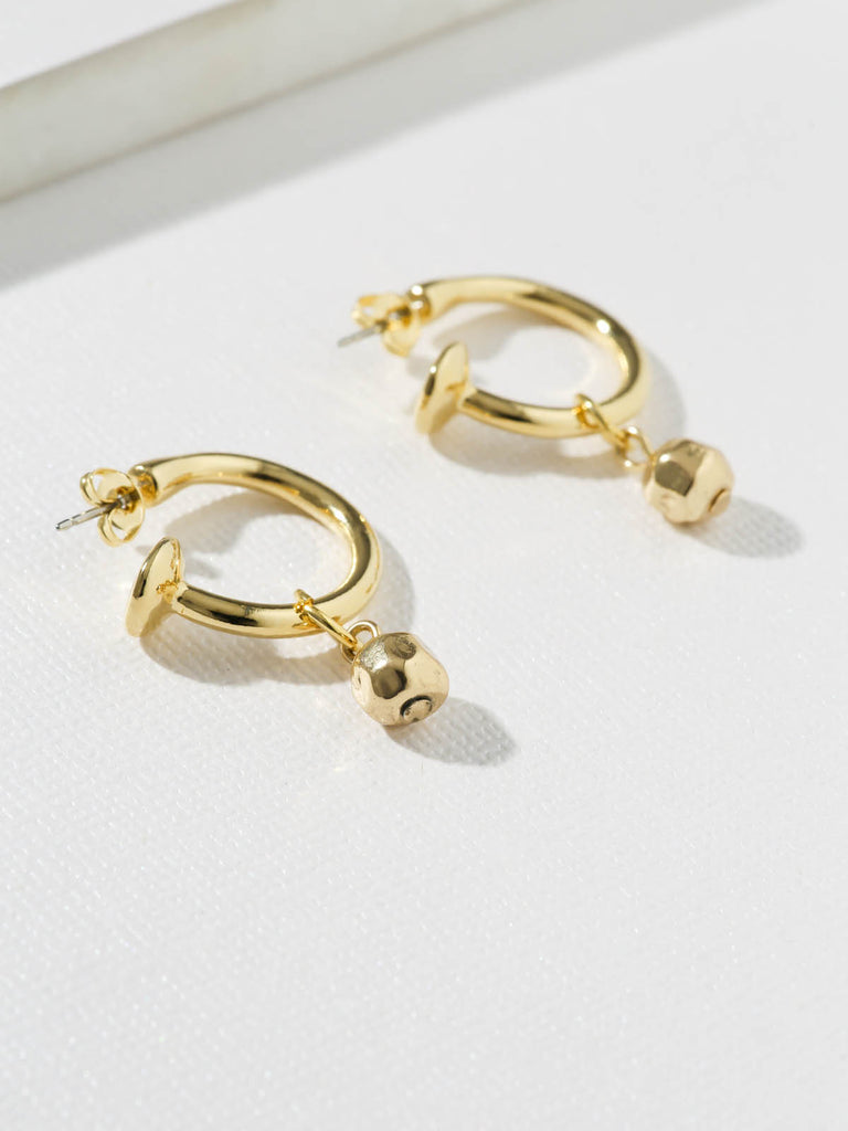 The Cecelia Gold Ball Hoops