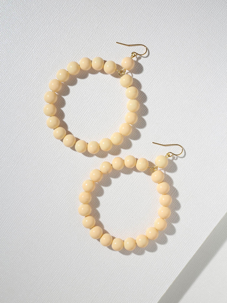 The Daisy Ivory Hoop Earrings