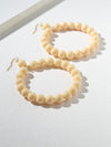 Earrings The Daisy Ivory Hoop Earrings Vanessa Mooney