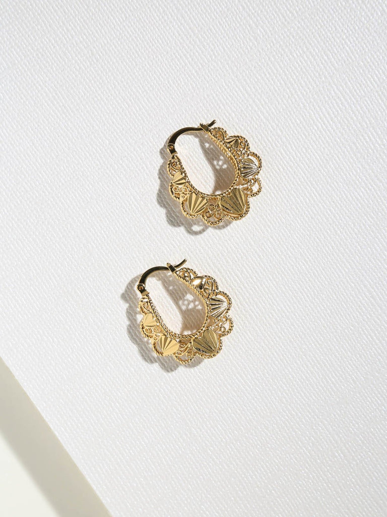 The Gold Lillian Hoops