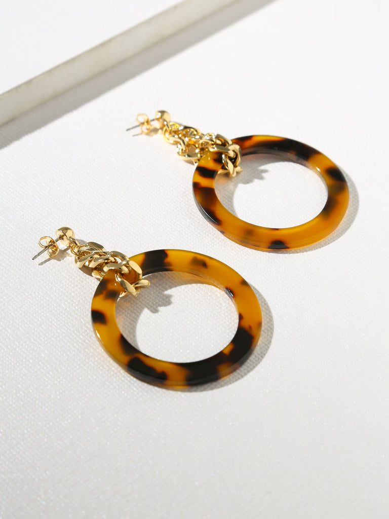 Gia Chain & Tortoise Shell Hoops