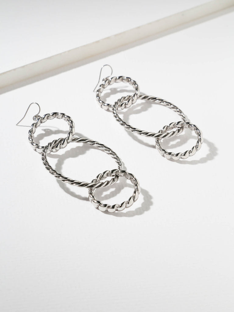 Earrings The Dub Hoops Silver Vanessa Mooney