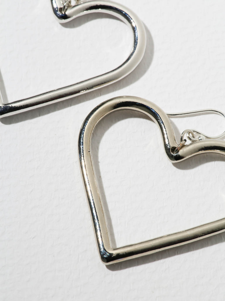 The Queen Heart Earrings Silver