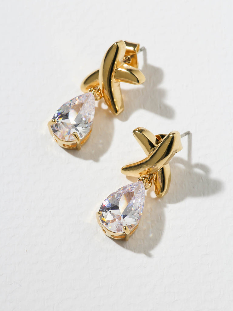 The Luana Diamond X Earrings