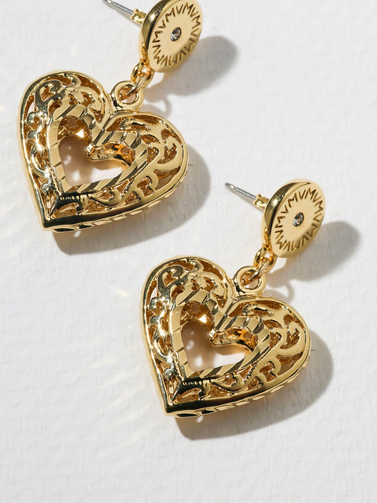 The Charlotte Heart Post Earrings