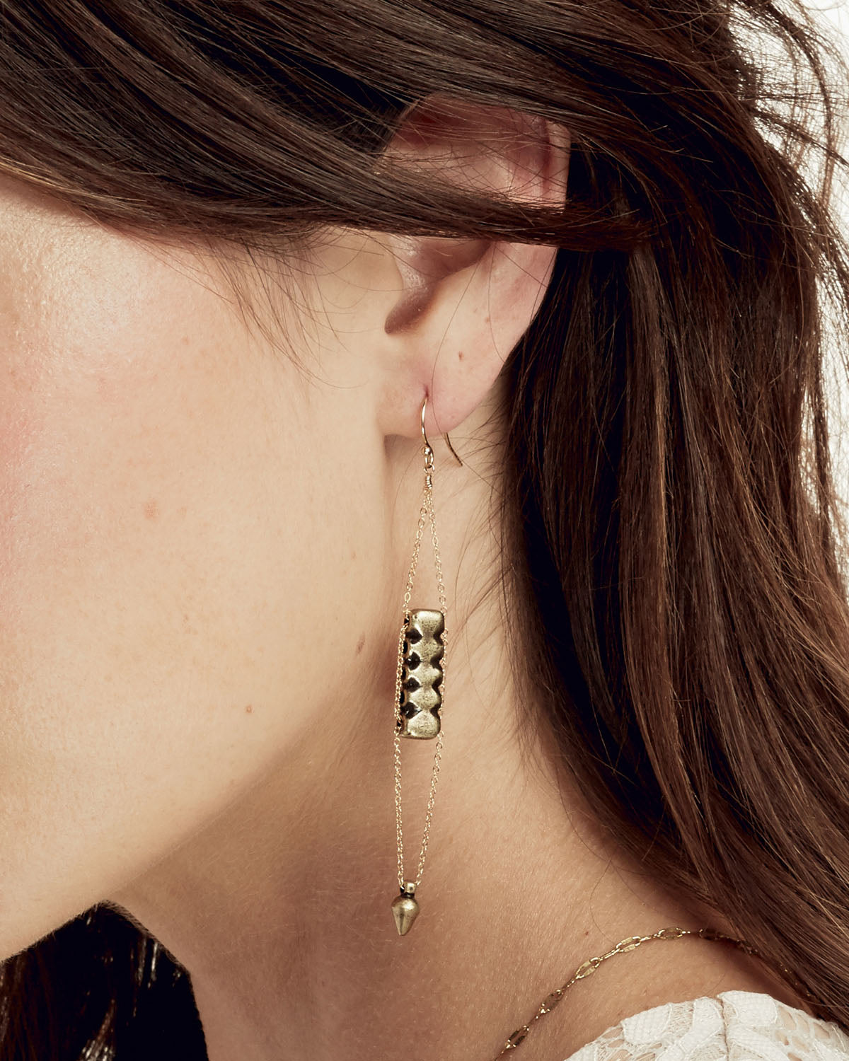 The Bow And Arrow Gold Earrings