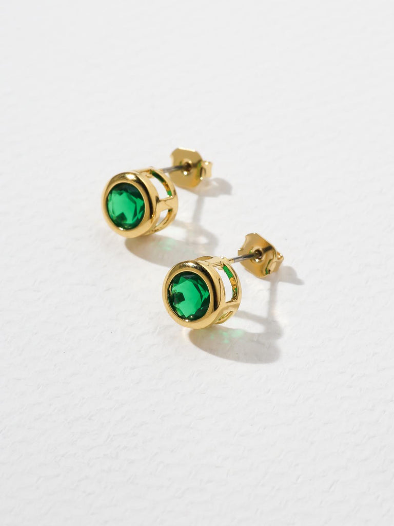 Earrings The Bardot Emerald Earrings Vanessa Mooney