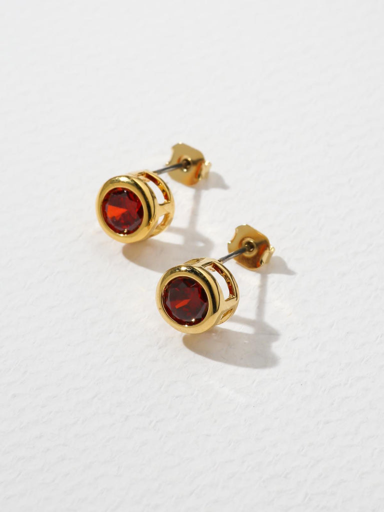 Earrings The Bardot Ruby Earrings Vanessa Mooney