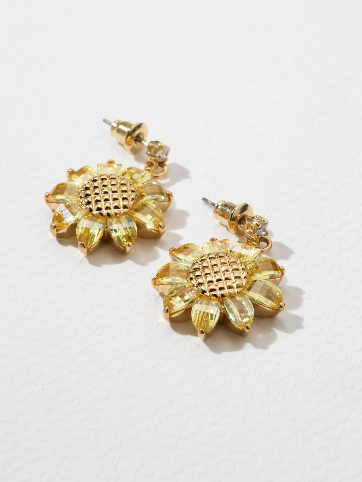 Earrings The Sunflower Earrings Vanessa Mooney
