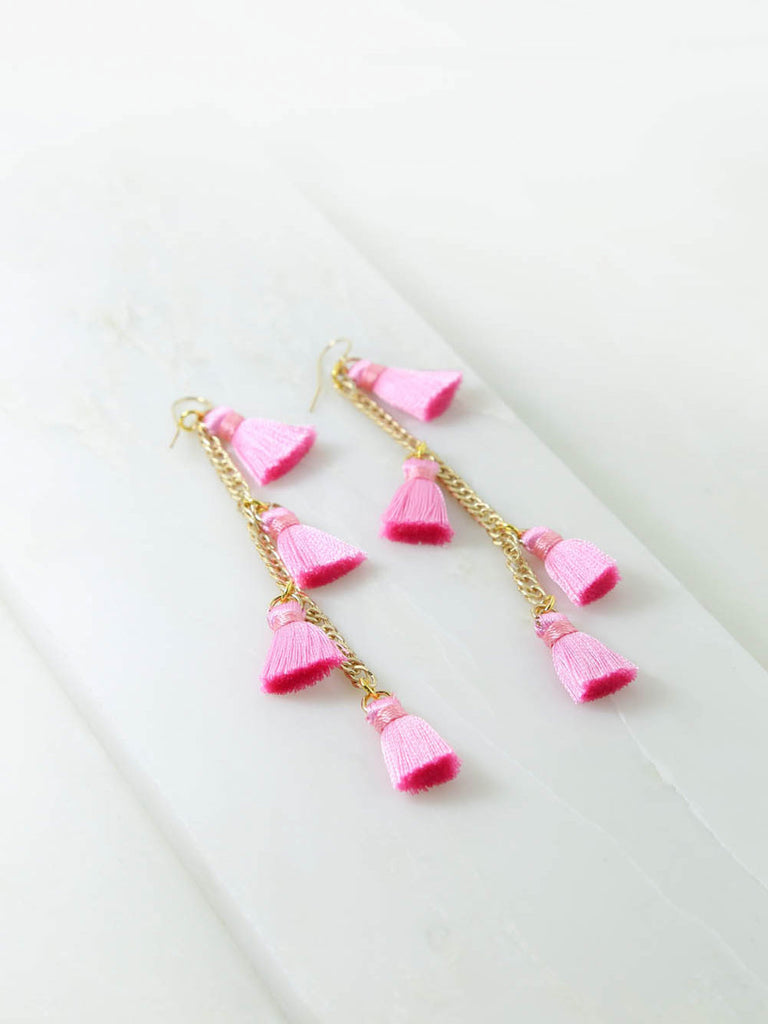 The Dynasty Earrings Pink