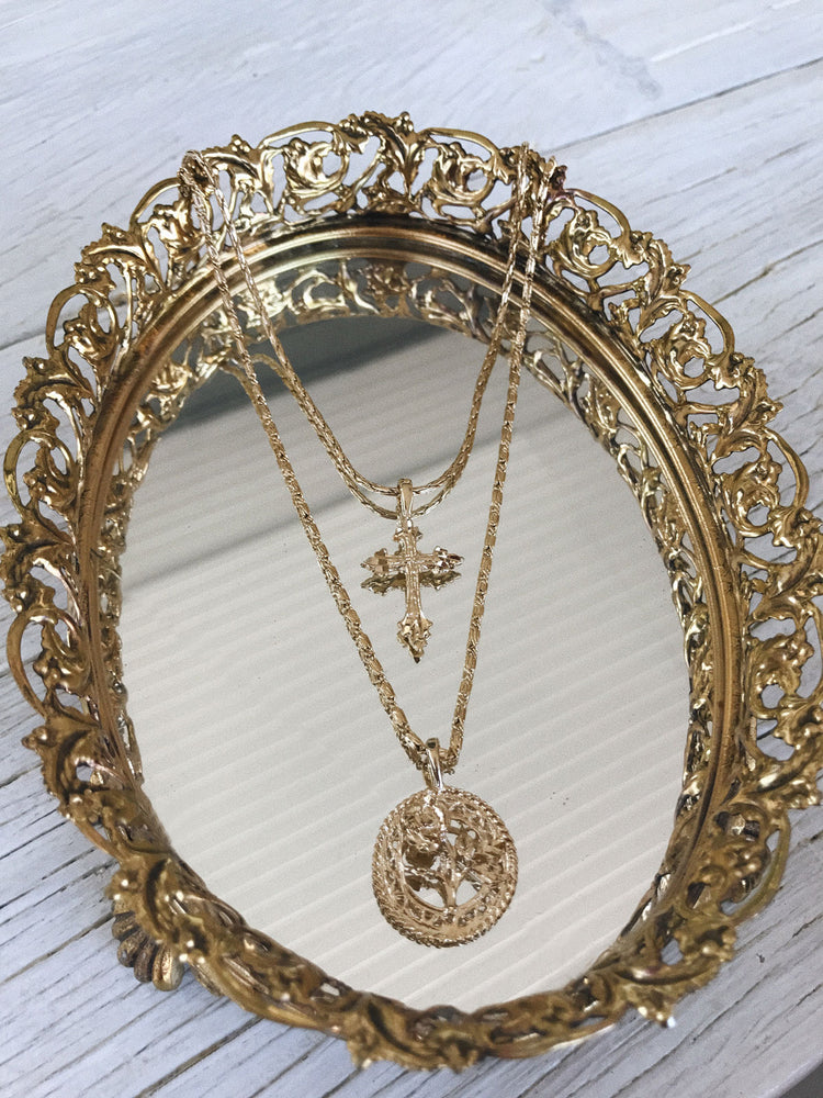 Necklaces The Gold Rossa Charm Necklace Vanessa Mooney