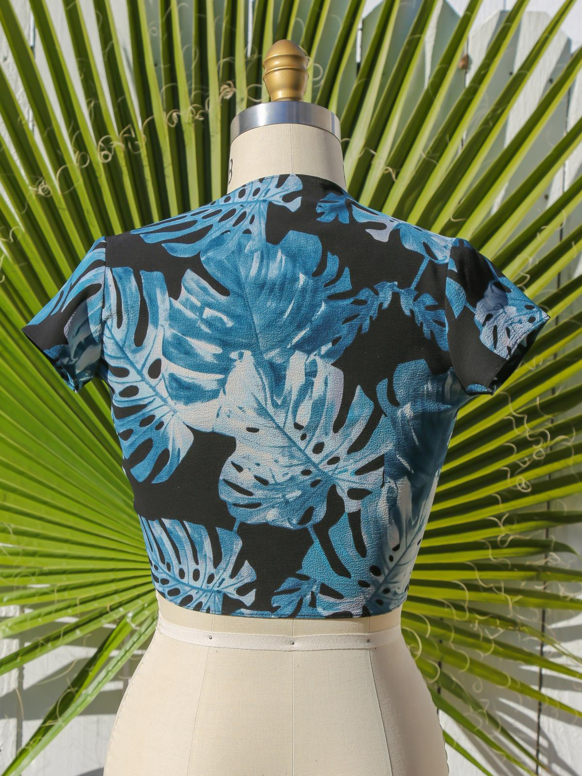 Sale Items The Violette Top - Palm Leaf Vanessa Mooney