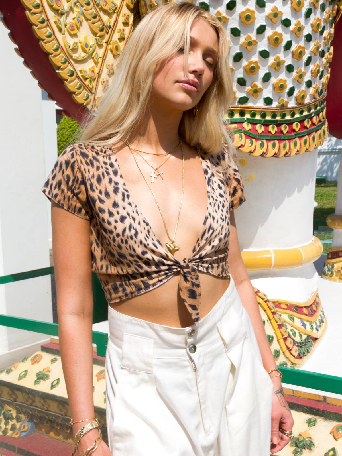 Clothing The Violette Top - Cheetah Vanessa Mooney