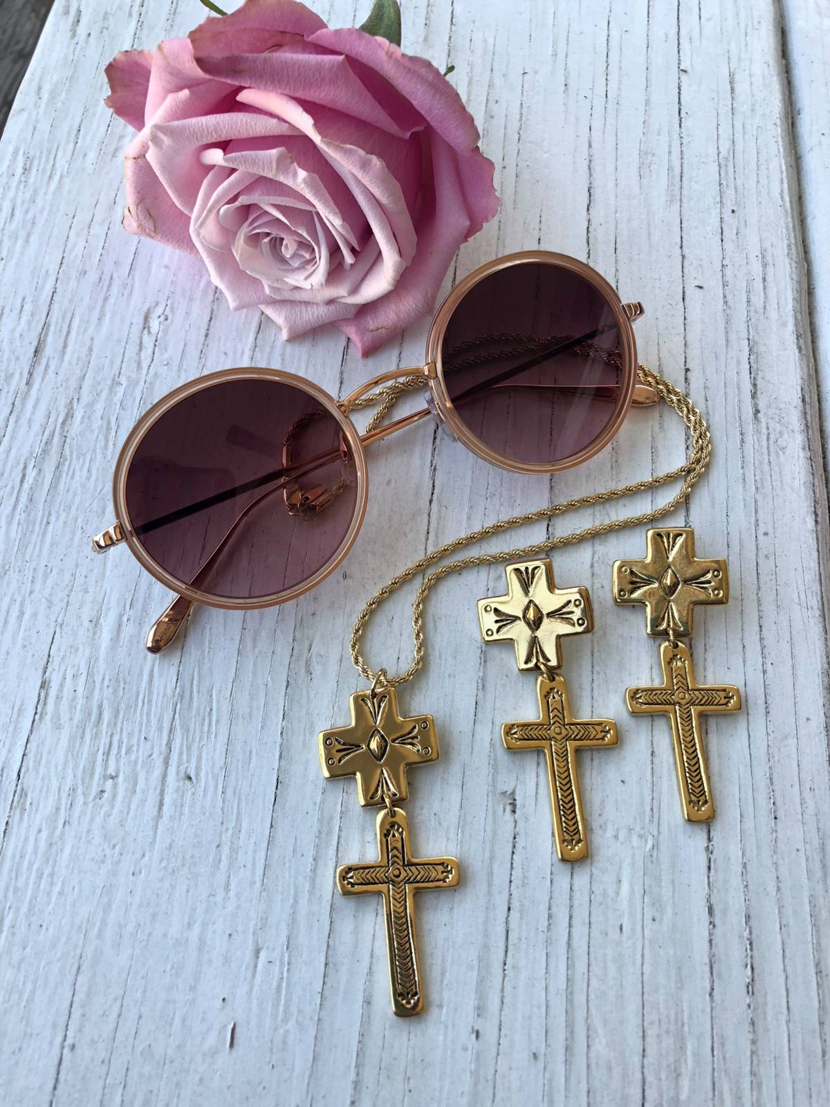 The Double Cross Earrings