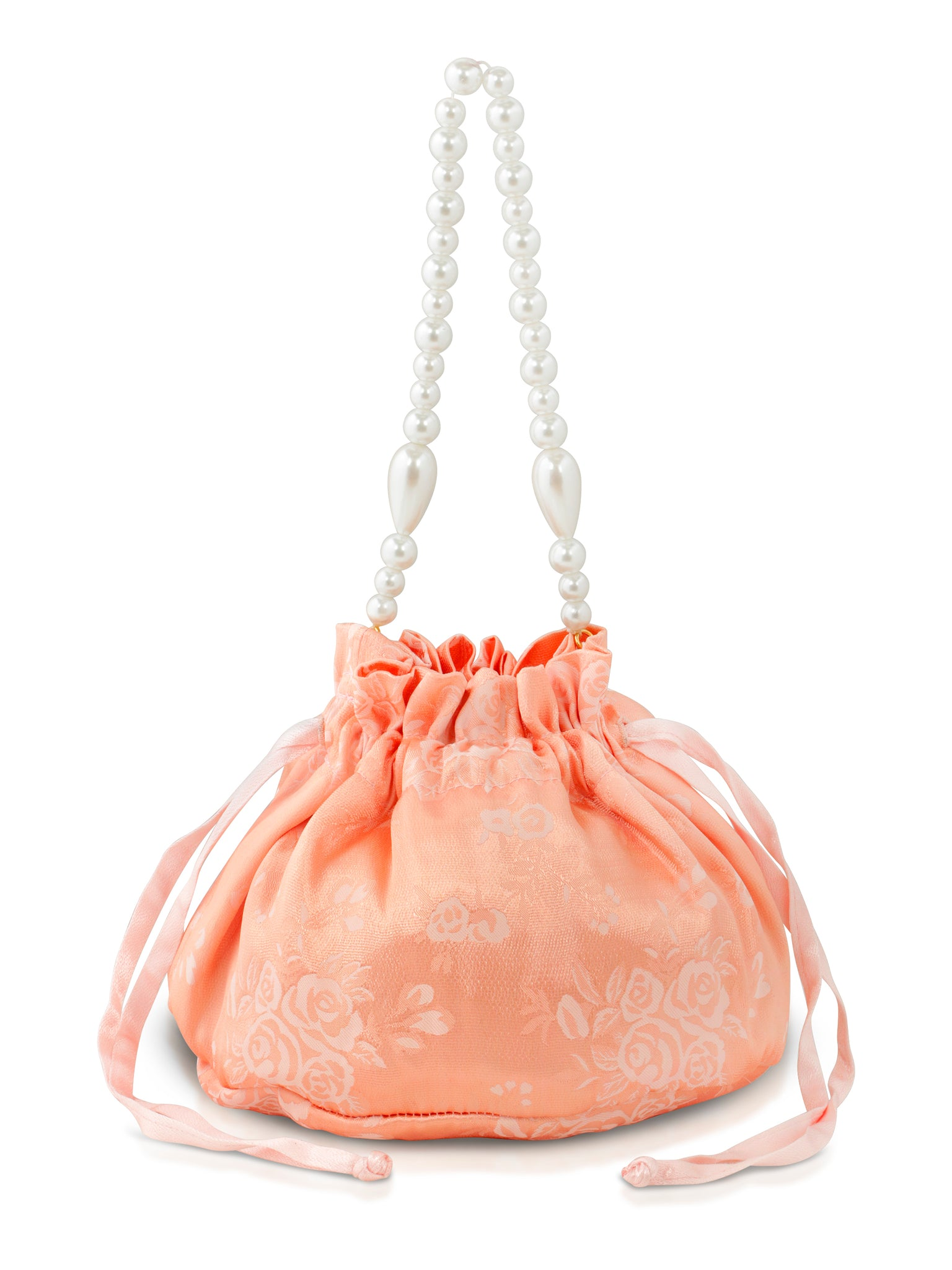 The Ziggy Bag - Peach Brocade