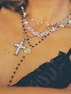 The Iris Cross Necklace