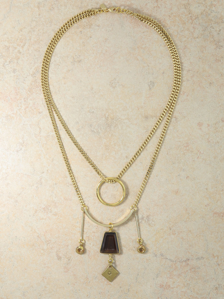 Necklaces The Athena Layered Gold Necklace Vanessa Mooney