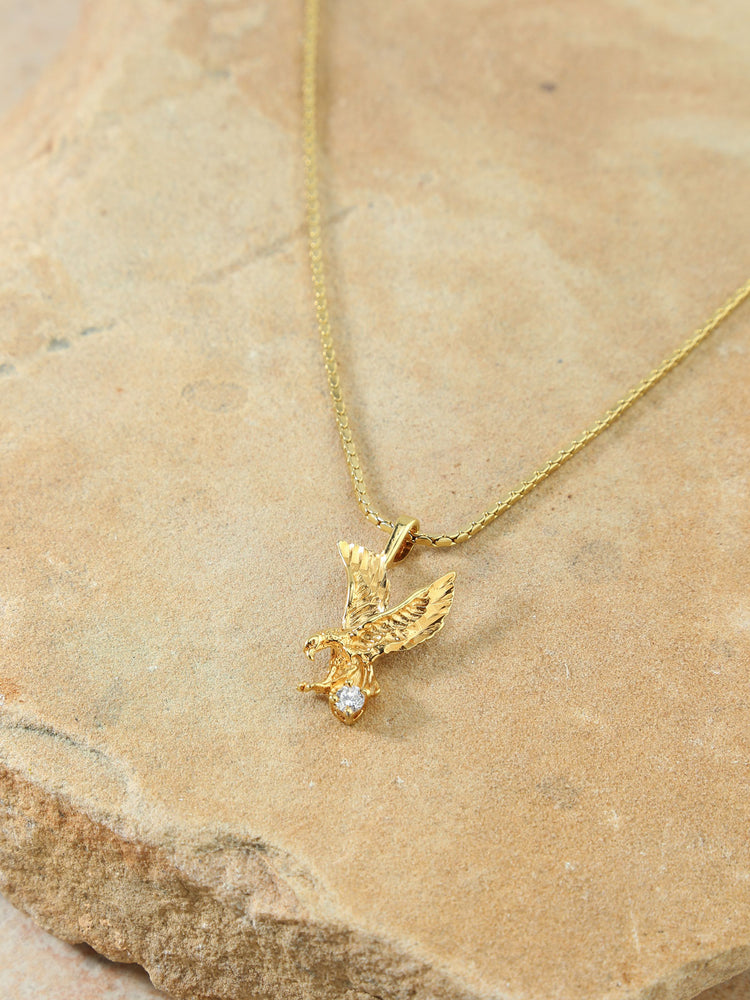 The Lopes Eagle Charm Necklace