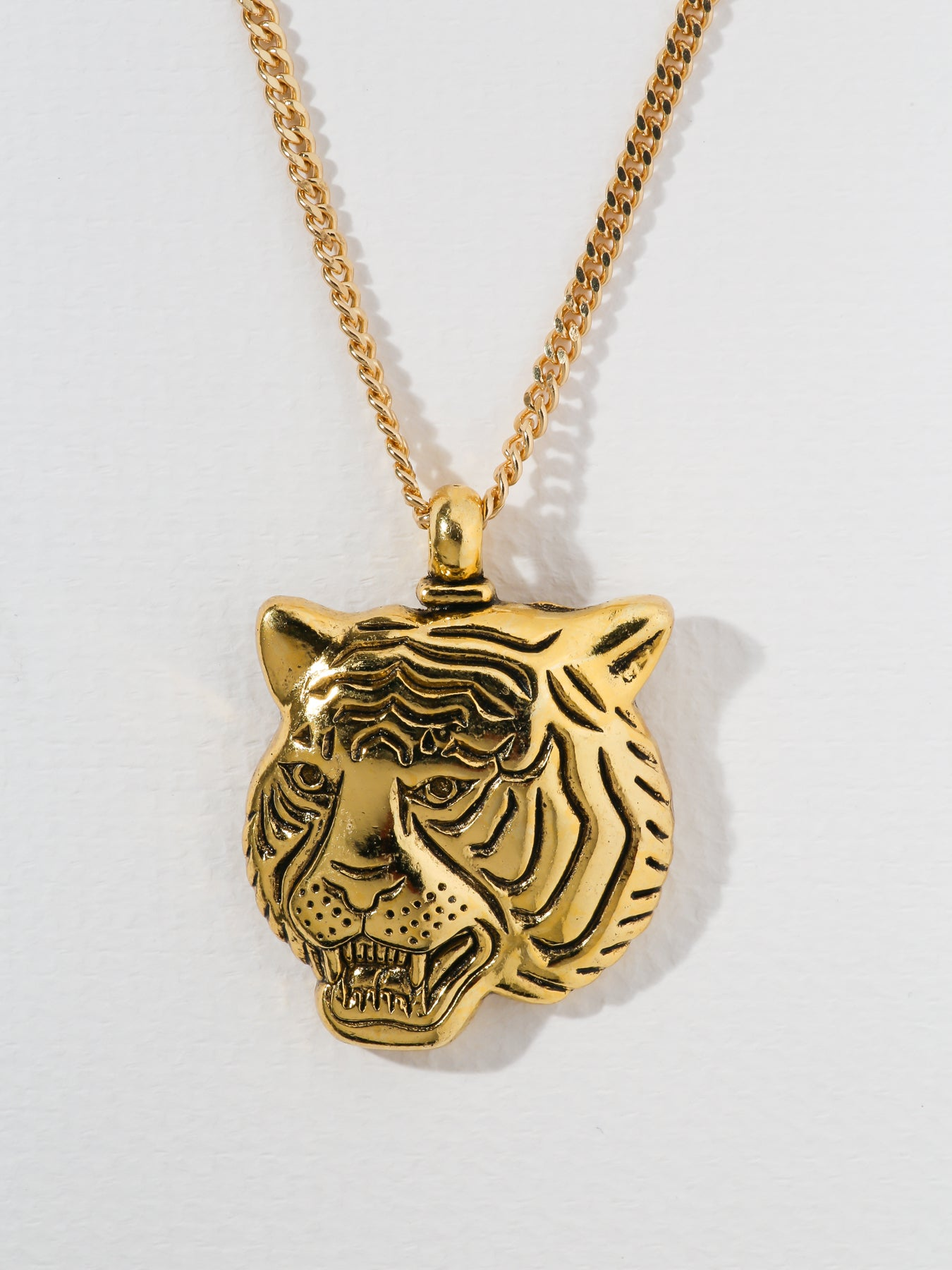 Necklaces The Latifah Tiger Gold Necklace Vanessa Mooney