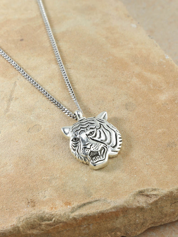 The Latifah Tiger Silver Necklace