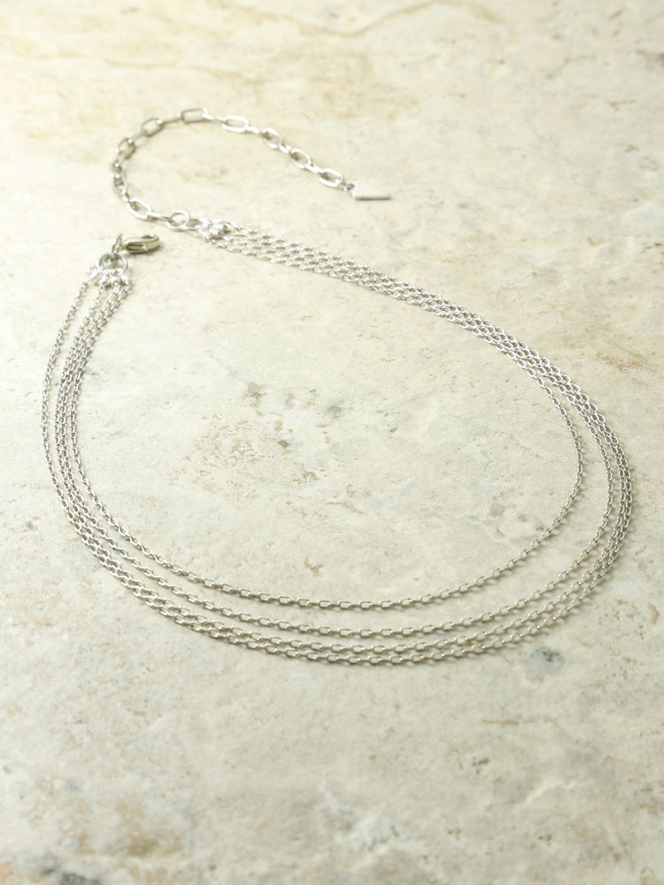 The Carmela Silver Layered Necklace