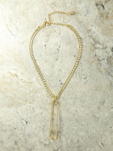 The Danza Safety Pin Necklace