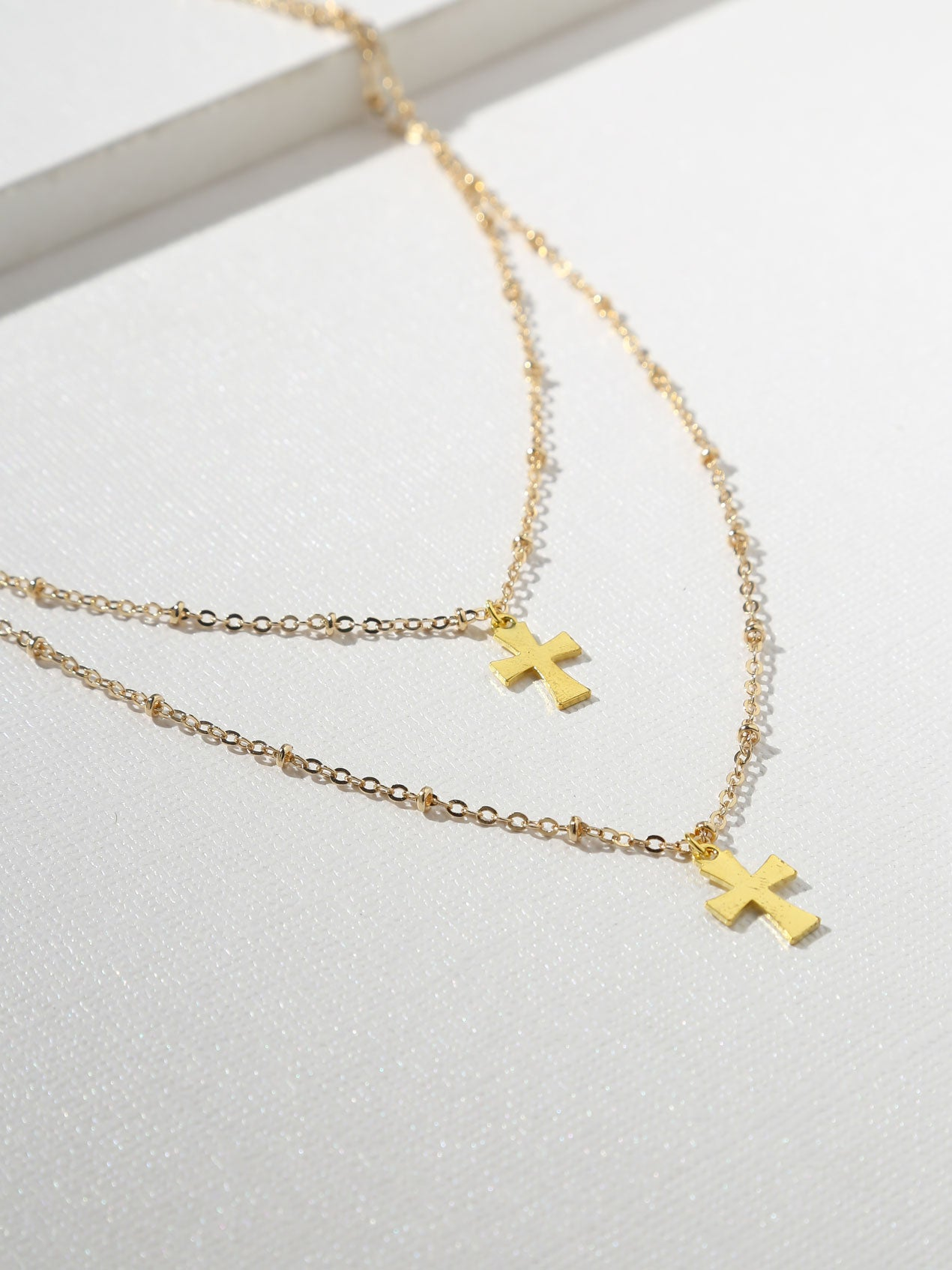 The Gabriella Double Cross Necklace