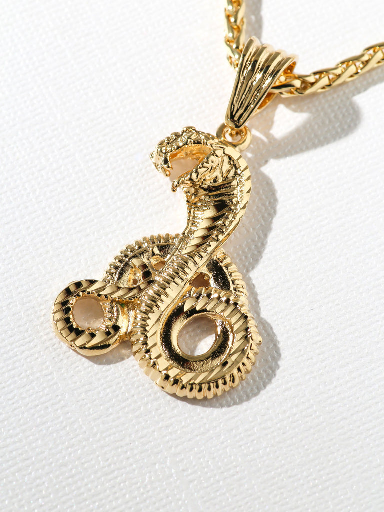 Necklaces The Gold Cobra Necklace Vanessa Mooney