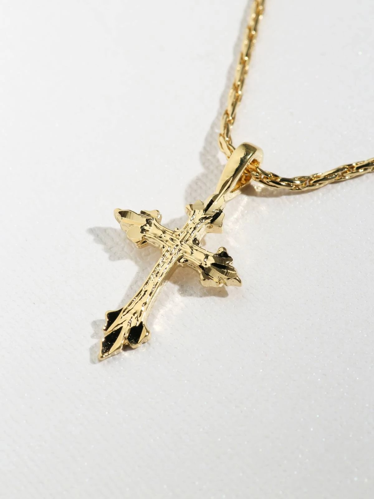 Necklaces The Gold Anastasia Cross Necklace Vanessa Mooney