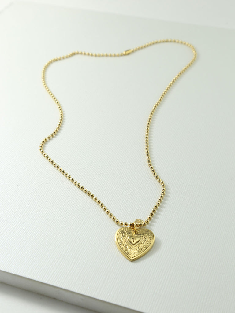 Necklaces The Angelica Heart Necklace Vanessa Mooney