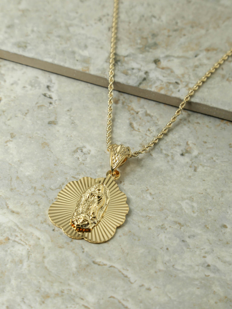 The Mother Madonna Starburst Necklace