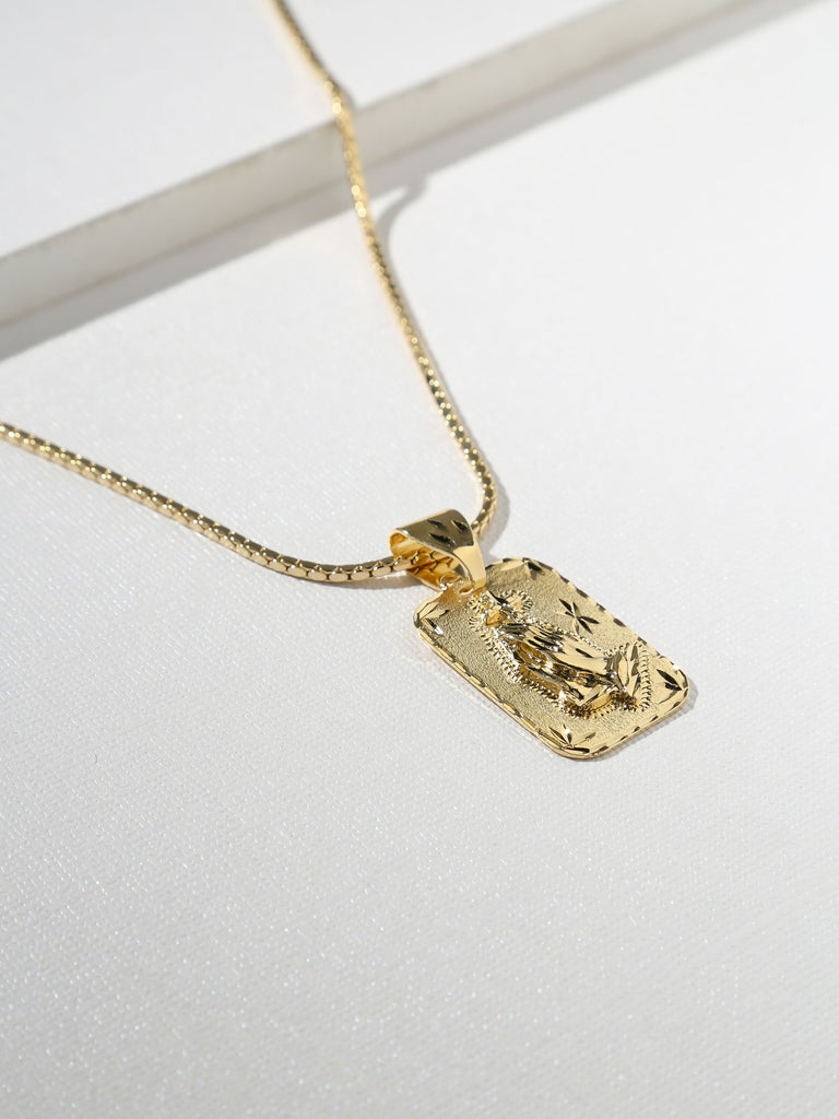 The Praying Hands Gold Necklace