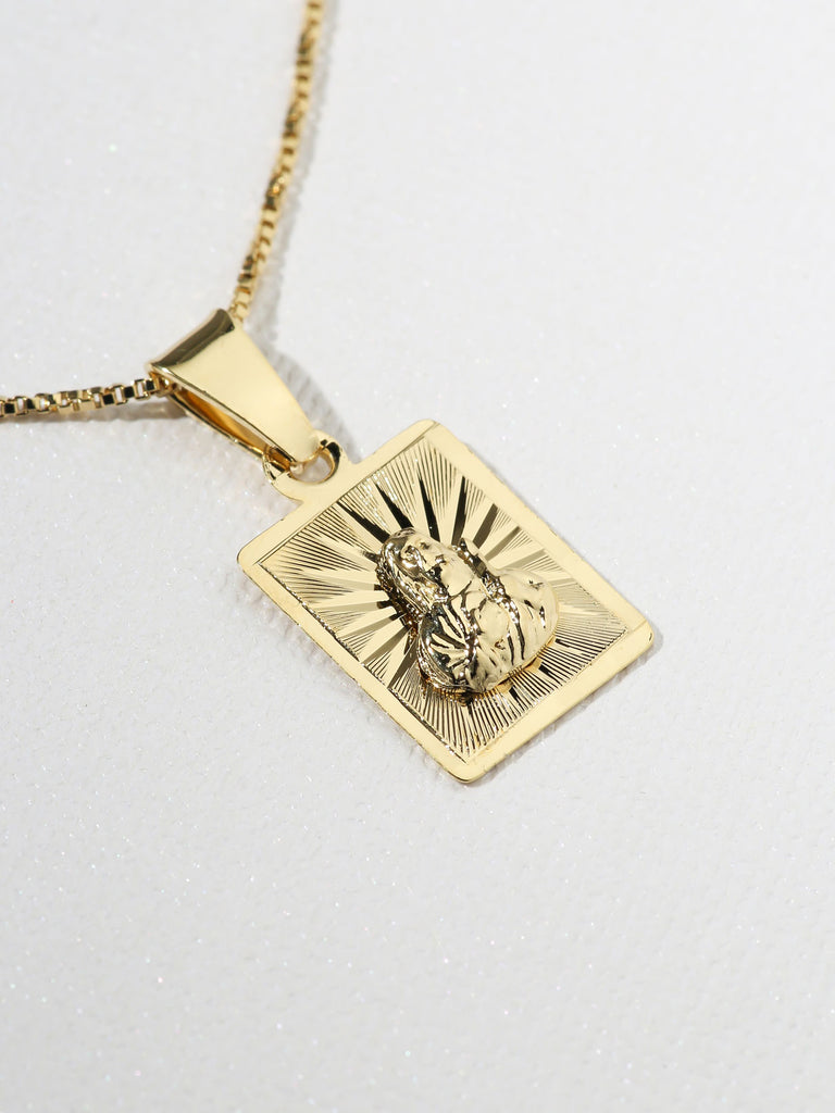 The Son Of God Gold Starburst Necklace