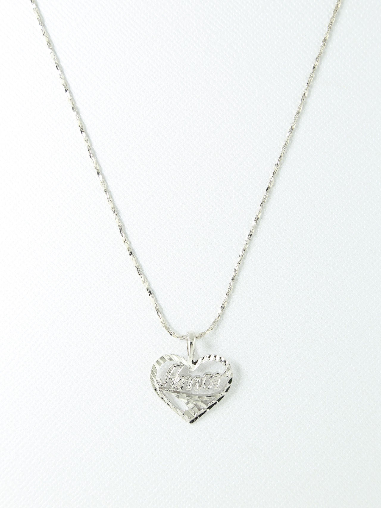 The Amor Necklace – Silver